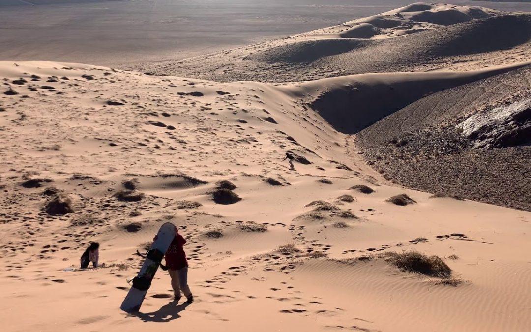 Sand boarding in Atacama Dunes